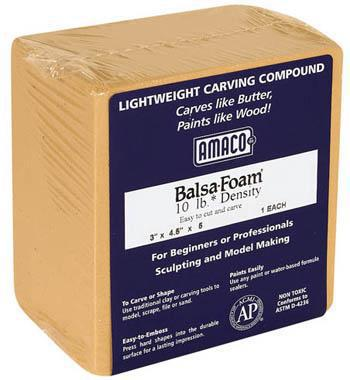 American Art Clay Co. Balsa Foam II 10 lb 3x4.5x5 -- Art And Craft Miscellaneous -- #43009k