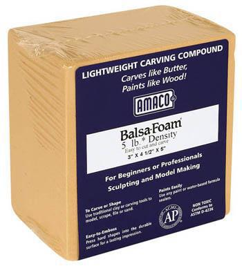 American Art Clay Co. Balsa Foam 5 lb 3x4.5x5 -- Art And Craft Miscellaneous -- #43016t