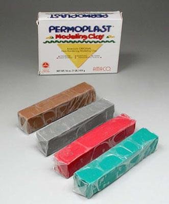 American Art Clay Co. X34 Earth Asst Permoplast 1lb -- Clay Art Kit -- #90091e