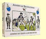 A Call To Arms American Revolution- American Maryland Infantry (16) -- Plastic Model Military Figure -- 1/32 -- #10