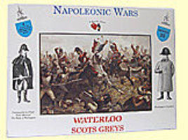 A-Call-To-Arms Napoleonic Wars- Scots Greys (8) Plastic Model Military Figure 1/32 Scale #25