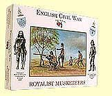 A Call To Arms English Civil War- Royalist Musketeers (16) -- Plastic Model Military Figure -- 1/32 Scale -- #3