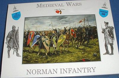 A Call To Arms Norman Infantry (16) -- Plastic Model Military Figure -- 1/32 Scale -- #36