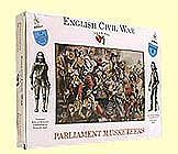 A-Call-To-Arms English Civil War- Parliament Musketeers (16) Plastic Model Military Figure 1/32 Scale #5