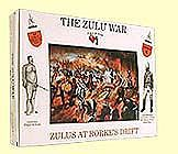 A-Call-To-Arms Zulu War- Zulus at Rorkes Drift (16) Plastic Model Military Figure 1/32 Scale #6