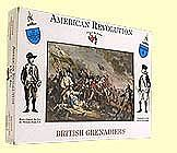 A-Call-To-Arms American Revolution- British Grenadiers (16) Plastic Model Military Figure 1/32 Scale #8