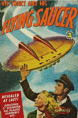 Atlantis Model Company Vic Torry & His Flying Saucer from Comic Book 5'' Dia (New Tool)