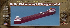 Atlantis SS Edmund Fitzgerald Great Lakes Freighter (12L) (Basswood Kit)