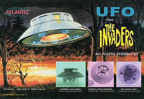Atlantis The Invaders UFO Science Fiction Plastic Model 1/72 Scale #amc-1006