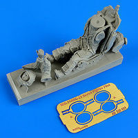 Aerobonus Soviet Fighter Pilot w/Ejection Seat Plastic Model Aircraft Accessory 1/32 #320051