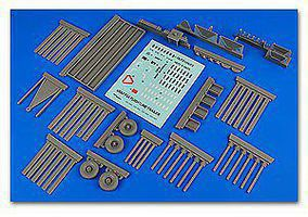 F2A Flightline Steel Type Platform Trailer Plastic Model Aircraft Accessory 1/32 #320090