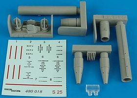 Aerobonus S25L Air-to-Ground Rocket Plastic Model Aircraft Accessory 1/48 Scale #480018