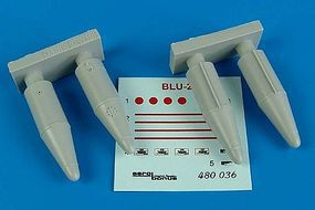 Aerobonus BLU27 Fire Bombs Plastic Model Aircraft Accessory 1/48 Scale #480036