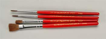 Atlas Brush Co. Red Sable 4pc Flat/Round Brush