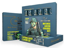 Abteilung Intense Green Acrylic Paint Set (6 Colors) 20ml Tubes