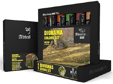 Abteilung Dioramas Weathering Oil Paint Set (6 Colors) 20ml Tubes
