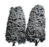 Accu-Dimensionals Snow-Covered Conifer Trees - 5 (blue w/snow) Model Railroad Scenery #5020