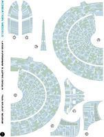 Acreation Star Trek USS Enterprise NCC1701D 9Grey) Aztec Plastic Model Spaceship Decals 1/2500 #136