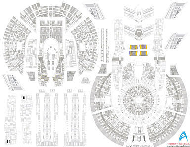Acreation Models Star Trek USS Enterprise NX1 Aztec Decals -- Plastic Model Spaceship Decals -- 1/350 -- #139