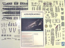 Acreation Battlestar Galactica BS75 Armor Aztec Decals Plastic Model Spaceship Decals 1/4105 #147