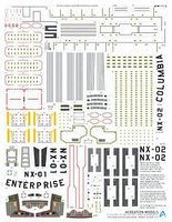 Acreation Star Trek USS Enterprise NX01 Registry Marking Plastic Model Spaceship Decals 1/350 #153