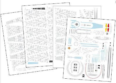 Acreation Models 1/500 Star Trek USS Enterprise (Blue) Aztec Decals for RVL