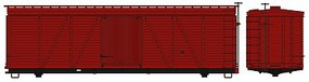Accurail 36' Fowler Wood Boxcar Undecorated HO Scale Model Train Freight Car Kit #1150