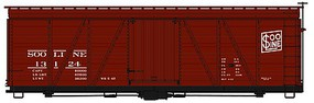 Accurail 36' Fowler Wood Boxcar SOO Line HO Scale Model Train Freight Car Kit #1151
