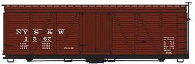 Accurail 36' Fowler Wood Boxcar NYS&W HO Scale Model Train Freight Car Kit #1152