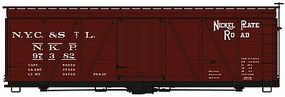 36' Fowler Wood Boxcar Nickel Plate Road HO Scale Model Train Freight Car Kit #1153