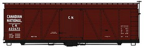 Accurail 36' Fowler Wood Boxcar Canadian National HO Scale Model Train Freight Car Kit #1154