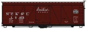 Accurail HO KIT 36' Fowler Wood Box, NCSTL