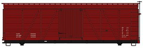 Accurail 36' Fowler Wood Boxcar Data Oxide Red HO Scale Model Train Freight Car Kit #1199