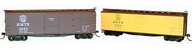 Accurail 40' Double-Sheathed Wood Boxcar and Reefer Set - Kit -- HO Scale Model Train Freight Car -- #1207