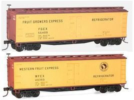 Accurail 40 Wood Reefer 2-Pack - Kit - Fruit Growers Express HO Scale Model Train Freight Car #1217