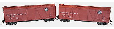 Accurail 6-Panel Wood Boxcar 2-Pack - Kit - Southern Pacific -- HO Scale Model Train Freight Car -- #1218