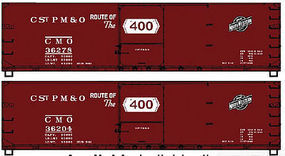 Accurail 40 Wood Boxcar Chicago & North Western (2) HO Scale Model Train Freight Car Kit #1221