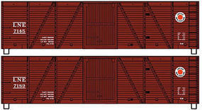 Accurail Lehigh & New England Wood Boxcar 2 number Set HO Scale Model Train Freight Car Kit #1225