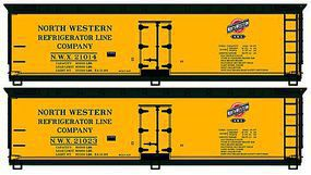 Accurail 40 Wood Reefer North Western HO Scale Model Train Freight Car Kit #1226
