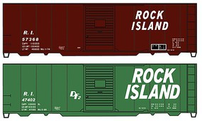 Accurail 40 Steel Boxcars Rock Island HO Scale Model Train Freight Car Kit #1229