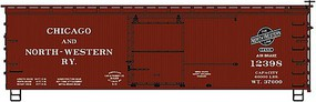 Accurail Ho 36'DS Wood Boxcar C&NW 2#Set