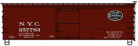 Accurail 36 Double Sheathed Wood Boxcar New York Central Kit HO Scale Model Train Freight Car #1301