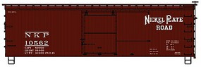 Accurail 36 Double Sheathed Wood Boxcar Nickel Plate Road HO Scale Model Train Freight Car #1302