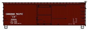 Accurail 36 Double Sheathed Wood Boxcar w/Steel Roof, Ends, Fishbelly Underframe Canadian Pacific