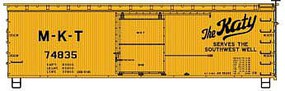 Accurail 36' Double Sheathed Wood Boxcar MKT HO Scale Model Train Freight Car Kit #1307