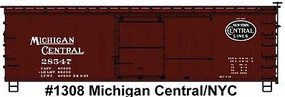 Accurail 36 Double Sheathed Wood Boxcar w/Steel Roof, Ends, Fishbelly Underframe Michigan Central (NYC)