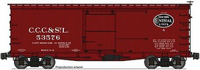 Accurail 36 Double Sheathed Wood Boxcar w/Steel Roof, Ends, Fishbelly Underframe Big Four (CCC&StL / NYC)