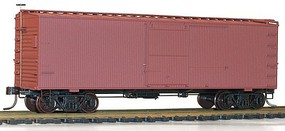 36' Double Sheathed Wood Boxcar w/Steel Roof, Ends, Straight Underframe Undecorated