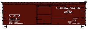 Accurail 36' Double Sheathed Wood Boxcar w/Steel Roof, Ends, Straight Underframe Chesapeake & Ohio