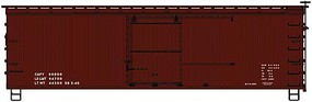 Accurail 36'Wd Box 40's Data red
